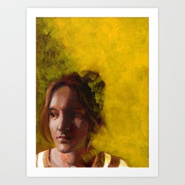 Megan, Fine Art Oil Painting Portrait Print Art Print