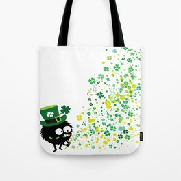 Blowing shamrocks Tote Bag