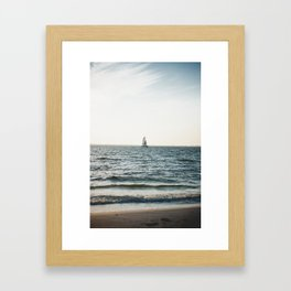 Sail boat on Bowditch Beach Framed Art Print