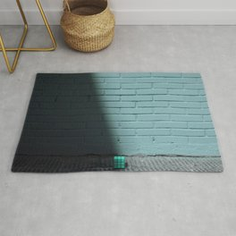 Blue and shady cube Rug
