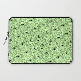 Cryptid Pattern: Black on Green Laptop Sleeve
