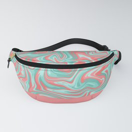 Liquid Swirl - Peach and Green Fanny Pack