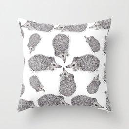 Erizo. Hedgehog Throw Pillow