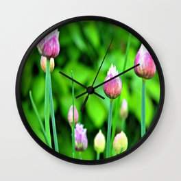 Flowering Chives Wall Clock
