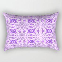 Lavender Purple Flower Cross Rectangular Pillow