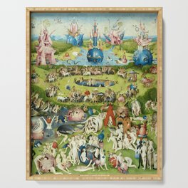 The Garden of Earthly Delights by Hieronymus Bosch Serving Tray