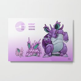 Pokevolution 032-034 Metal Print