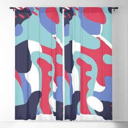 Camo Art Abstract Design Blackout Curtain