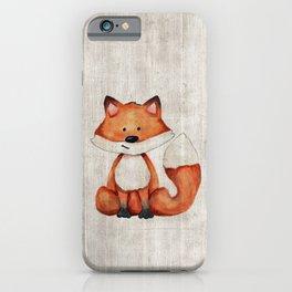 Little Fox, Baby Fox, Baby Animals, Forest Critters, Woodland Animals, Nursery Art iPhone Case