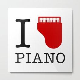I Love Piano Metal Print
