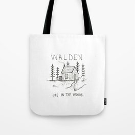 WALDEN Life in the woods Tote Bag