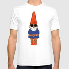 JerGnome White SMALL Mens Fitted Tee