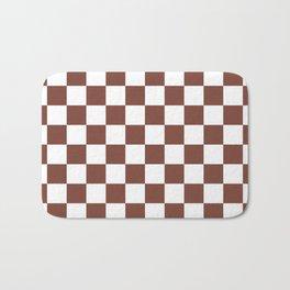 Checkered (Brown & White Pattern) Bath Mat