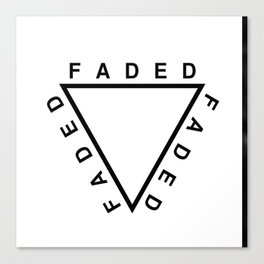 FADED TRIANGLE Canvas Print