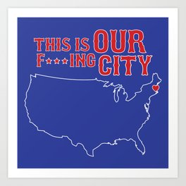 Boston Strong - This is our f***ing city - USA on dark Art Print