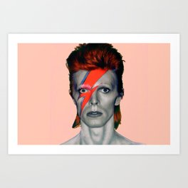 pinky bowie3 Art Print