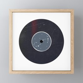 Vinyl Record Star Sign Art | Scorpio Framed Mini Art Print