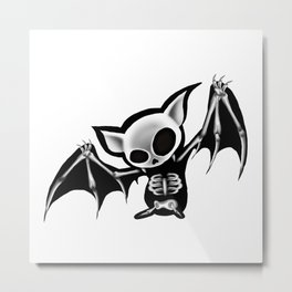 Skeleton bat Metal Print