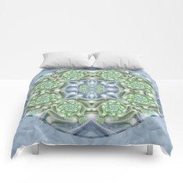 Shades of Green Mandala Comforters