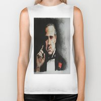 godfather Biker Tanks featuring The Godfather by Tridib Das