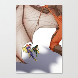 In the shadow of the Bat Canvas Print