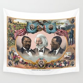 Heroes Of The Colored Race Wall Tapestry