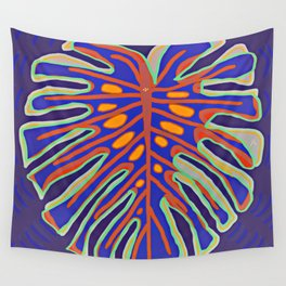 Monstera Flying to Summer Wall Tapestry