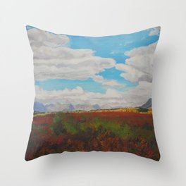 Standing in the Valley Throw Pillow