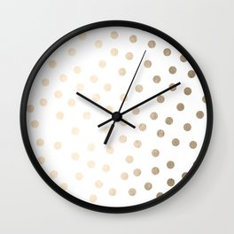 Simply Dots in White Gold Sands Wall Clock