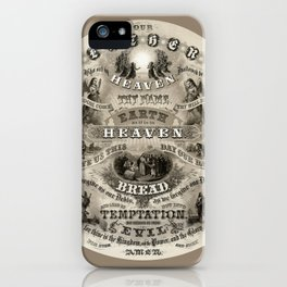 The Lords Prayer - Vintage Christian Art iPhone Case