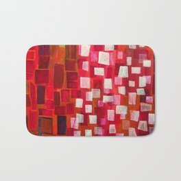 Snow in July, red detail 1 Bath Mat