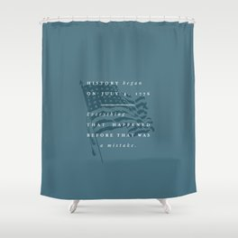 P + R History Shower Curtain