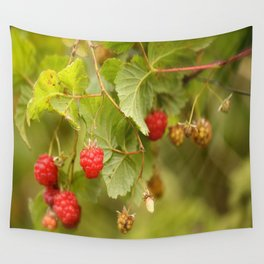 Sweet Raspberry Branches #decor #society6 Wall Tapestry