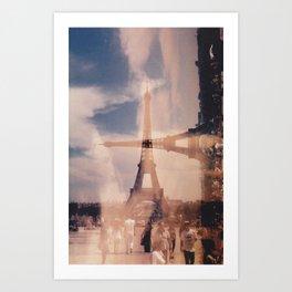 Dueling Eiffel Towers V2 // Paris Art Print