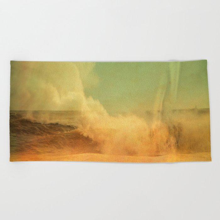 I dreamed a storm of colors Beach Towel
