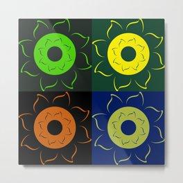 Floral squares Metal Print