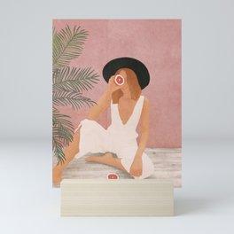 Woman with Oranges Mini Art Print