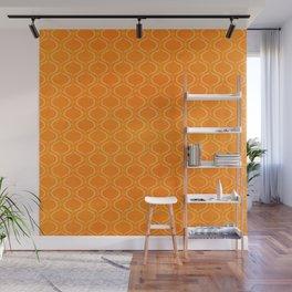 Retro Tangerine Print / Geometric Pattern Wall Mural