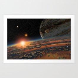 Kepler 64 b Art Print