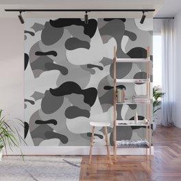 Camo-licious Collection: Dirty Martini Gray Camo Pattern Wall Mural