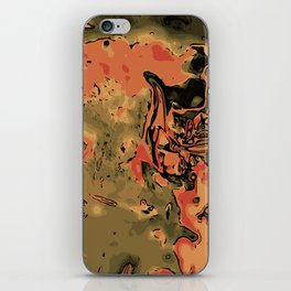 orange green and brown painting abstract background iPhone Skin