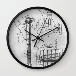 Mute means for electrical music instrument Wall Clock