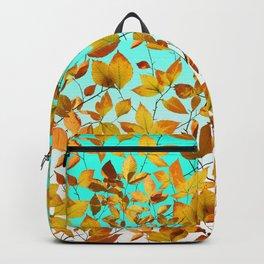 Autumn Leaves Azure Sky Backpack