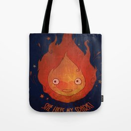 She Likes My Spark! Tote Bag