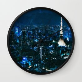 Nightlife in Tokyo Wall Clock