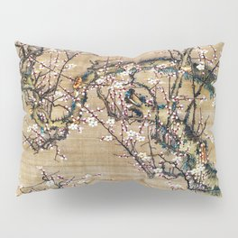 Ito Jakuchu - Moonlit Night And White Plum - Digital Remastered Edition Pillow Sham