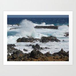 Caribbean wave Art Print