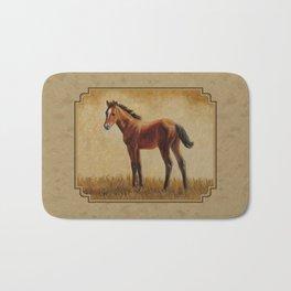 Bay Quarter Horse Foal Bath Mat