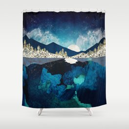 Midnight Water Shower Curtain
