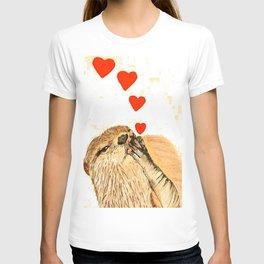 Otter love T-shirt